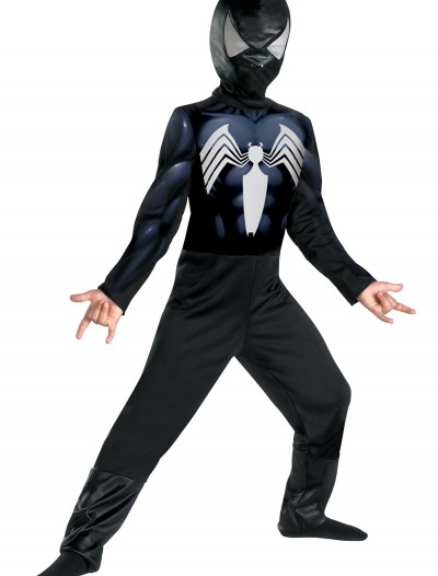 Child Black Suited Spiderman Costume, halloween costume (Child Black Suited Spiderman Costume)