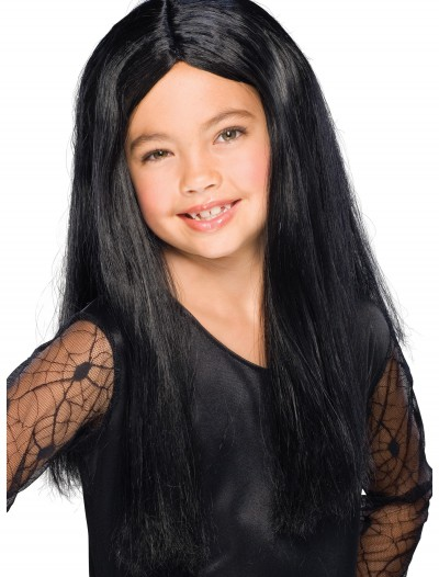 Child Black Witch Wig, halloween costume (Child Black Witch Wig)