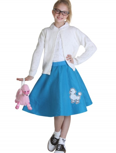 Child Blue 50s Poodle Skirt, halloween costume (Child Blue 50s Poodle Skirt)