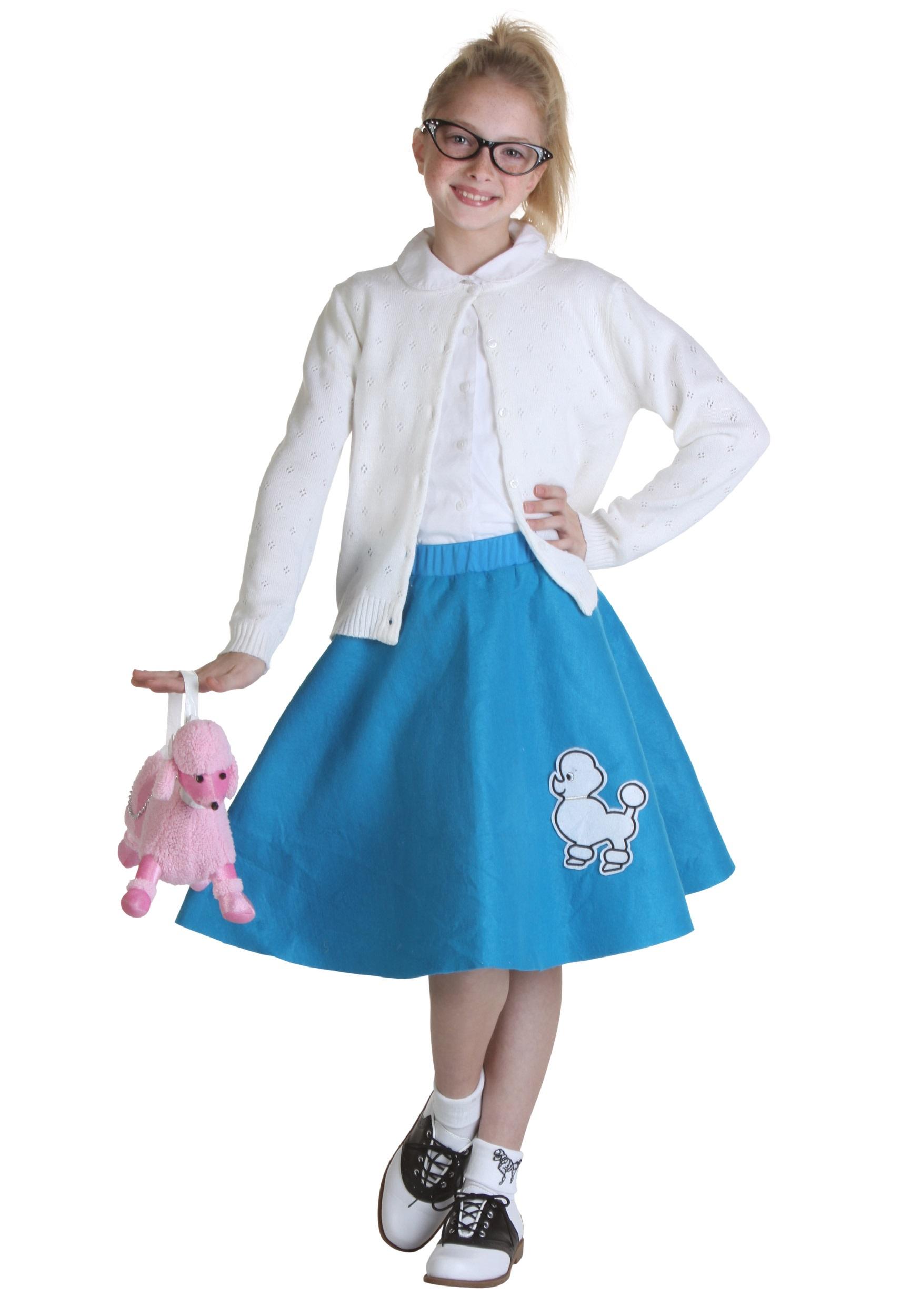 Child Blue 50s Poodle Skirt  sc 1 st  Halloween Costumes & Child Blue 50s Poodle Skirt - Halloween Costumes
