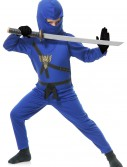 Child Blue Ninja Master Costume, halloween costume (Child Blue Ninja Master Costume)