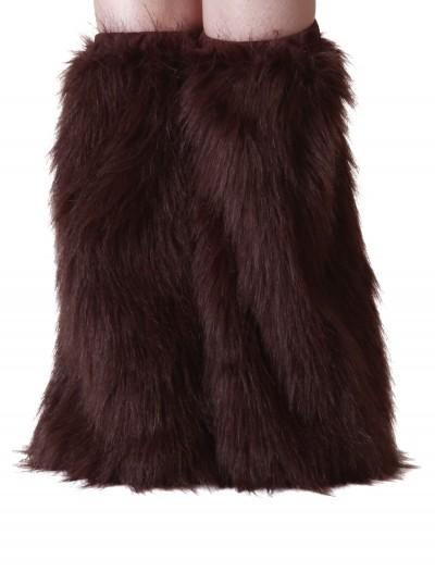 Child Brown Furry Boot Covers, halloween costume (Child Brown Furry Boot Covers)