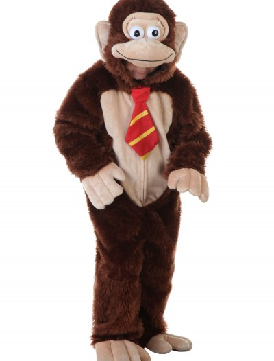 Child Brown Gorilla w/ Tie Costume, halloween costume (Child Brown Gorilla w/ Tie Costume)