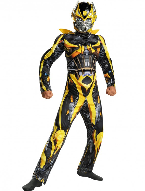 Child Bumblebee Classic Muscle Movie Costume, halloween costume (Child Bumblebee Classic Muscle Movie Costume)