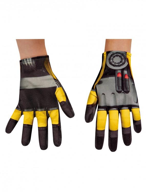 Child Bumblebee Movie Gloves, halloween costume (Child Bumblebee Movie Gloves)