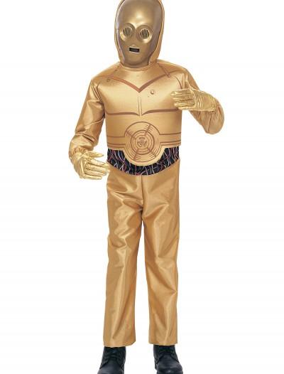 Child C3PO Deluxe Costume, halloween costume (Child C3PO Deluxe Costume)