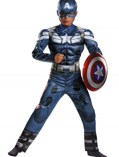 Child Captain America 2 Classic Muscle Costume, halloween costume (Child Captain America 2 Classic Muscle Costume)