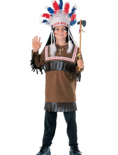 Child Cherokee Warrior Costume, halloween costume (Child Cherokee Warrior Costume)