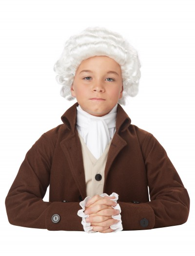 Child Colonial Man Wig, halloween costume (Child Colonial Man Wig)