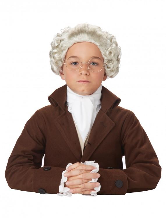 Child Colonial Peruke Wig, halloween costume (Child Colonial Peruke Wig)
