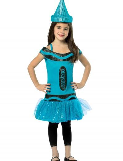 Child Crayola Glitz Blue Dress, halloween costume (Child Crayola Glitz Blue Dress)