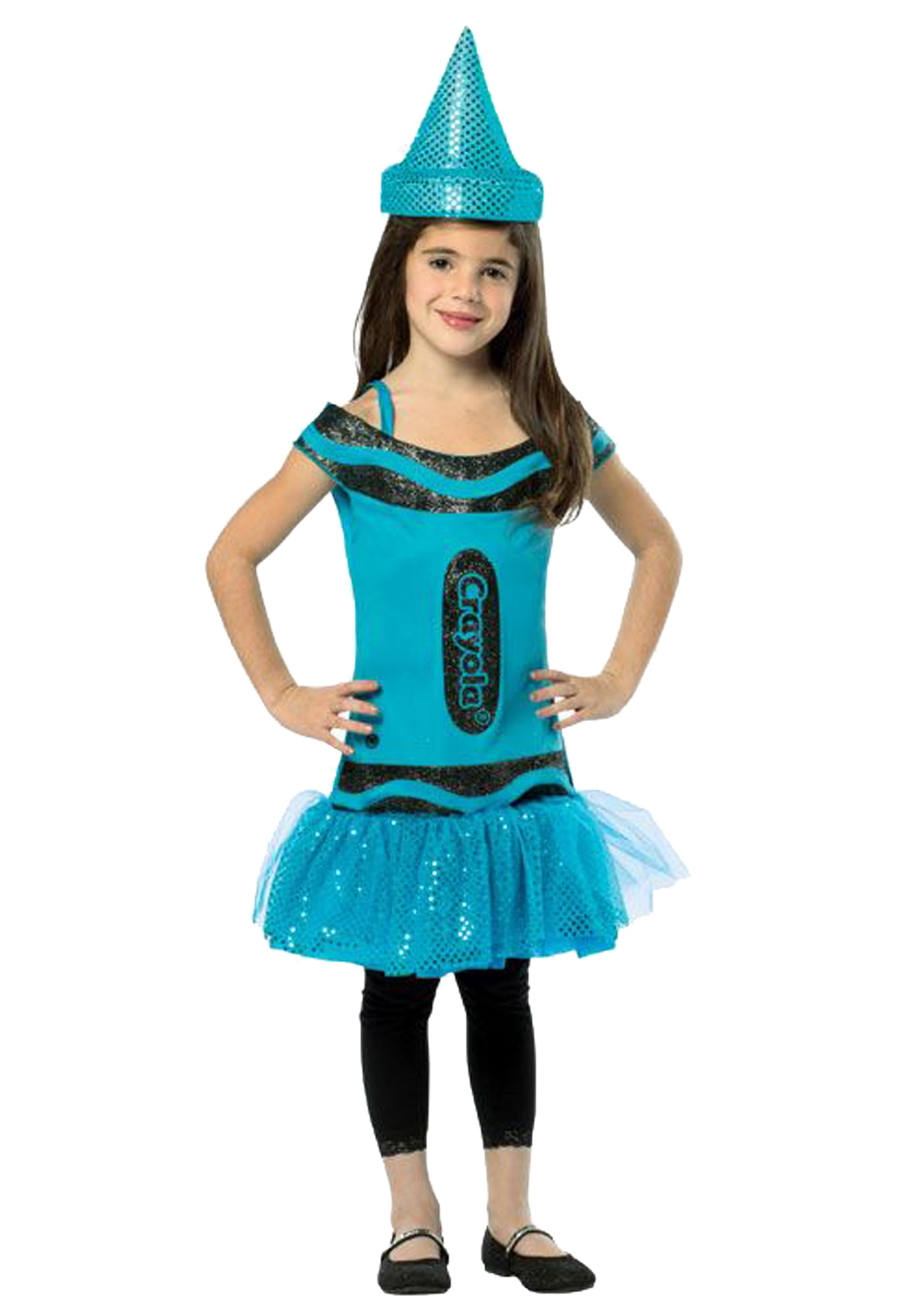 Child Crayola Glitz Blue Dress  sc 1 st  Halloween Costumes & Child Crayola Glitz Blue Dress - Halloween Costumes