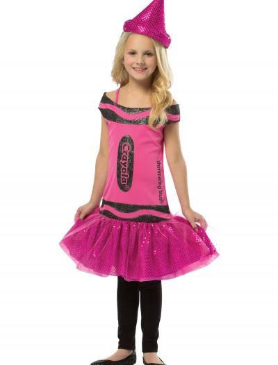 Child Crayola Glitz Blush Dress, halloween costume (Child Crayola Glitz Blush Dress)