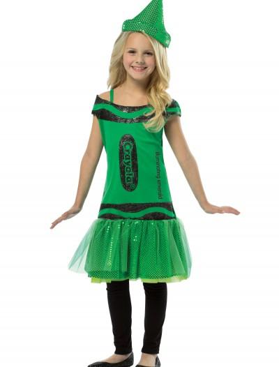 Child Crayola Glitz Emerald Dress, halloween costume (Child Crayola Glitz Emerald Dress)