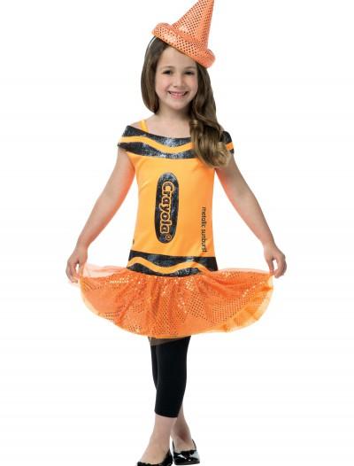Child Crayola Glitz Orange Dress, halloween costume (Child Crayola Glitz Orange Dress)
