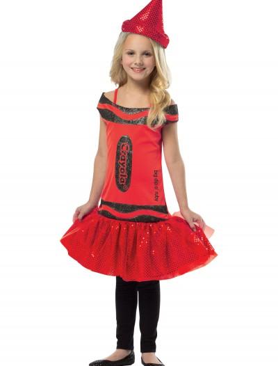 Child Crayola Glitz Ruby Dress, halloween costume (Child Crayola Glitz Ruby Dress)