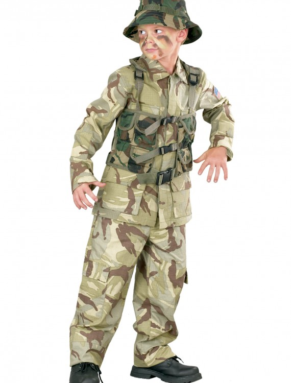 Child Delta Force Army Costume, halloween costume (Child Delta Force Army Costume)