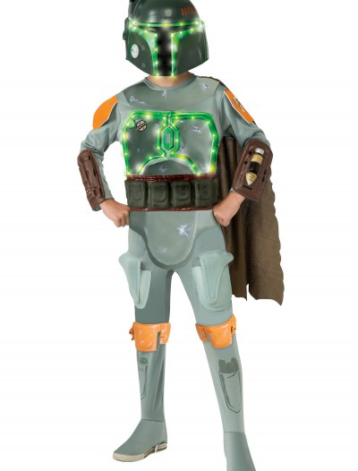 Child Deluxe Light Up Boba Fett Costume, halloween costume (Child Deluxe Light Up Boba Fett Costume)