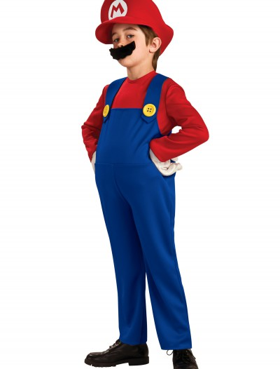 Child Deluxe Mario Costume, halloween costume (Child Deluxe Mario Costume)