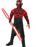 Child Deluxe Muscle Chest Darth Maul Costume, halloween costume (Child Deluxe Muscle Chest Darth Maul Costume)