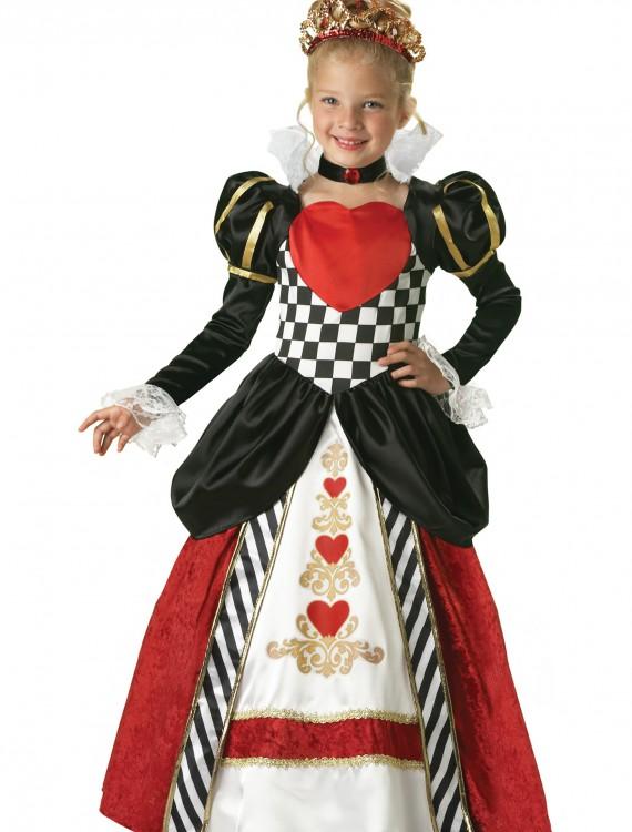 Child Deluxe Queen of Hearts Costume, halloween costume (Child Deluxe Queen of Hearts Costume)