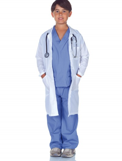 Child Doctor Scrubs with Lab Coat, halloween costume (Child Doctor Scrubs with Lab Coat)