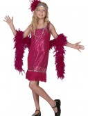 Child Fuchsia Sequin and Fringe Flapper Costume, halloween costume (Child Fuchsia Sequin and Fringe Flapper Costume)