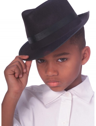 Child Gangster Fedora Hat, halloween costume (Child Gangster Fedora Hat)