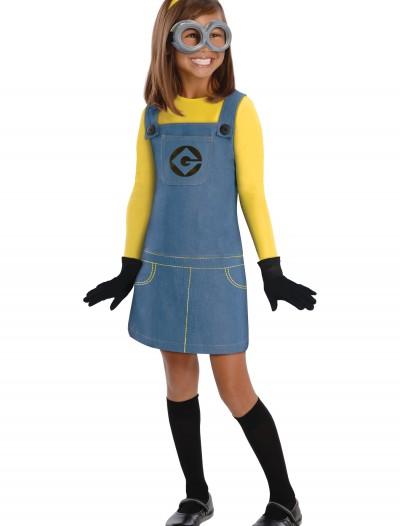 Child Girls Minion Costume, halloween costume (Child Girls Minion Costume)