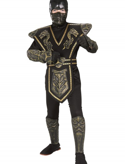 Child Gold Dragon Warrior Ninja Costume, halloween costume (Child Gold Dragon Warrior Ninja Costume)