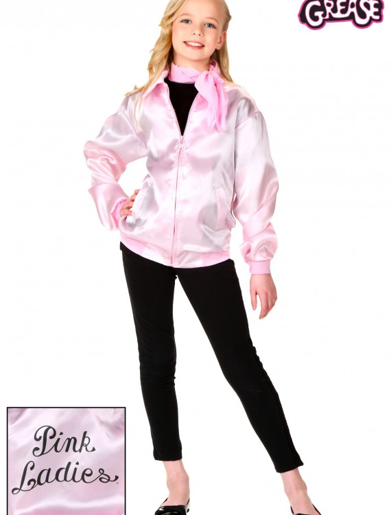 Child Grease Pink Ladies Jacket, halloween costume (Child Grease Pink Ladies Jacket)