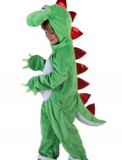Child Green Dinosaur w/ Red Spikes, halloween costume (Child Green Dinosaur w/ Red Spikes)