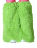 Child Green Furry Boot Covers, halloween costume (Child Green Furry Boot Covers)