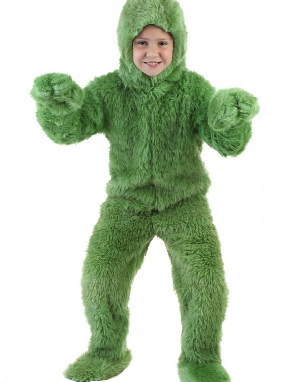 Child Green Furry Jumpsuit, halloween costume (Child Green Furry Jumpsuit)