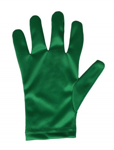 Child Green Gloves, halloween costume (Child Green Gloves)