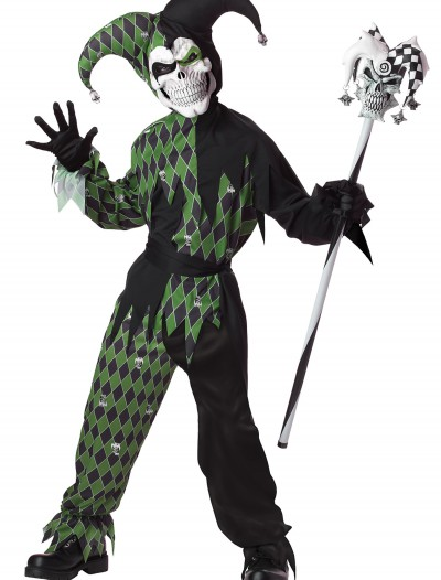 Child Green Scary Jester Costume, halloween costume (Child Green Scary Jester Costume)