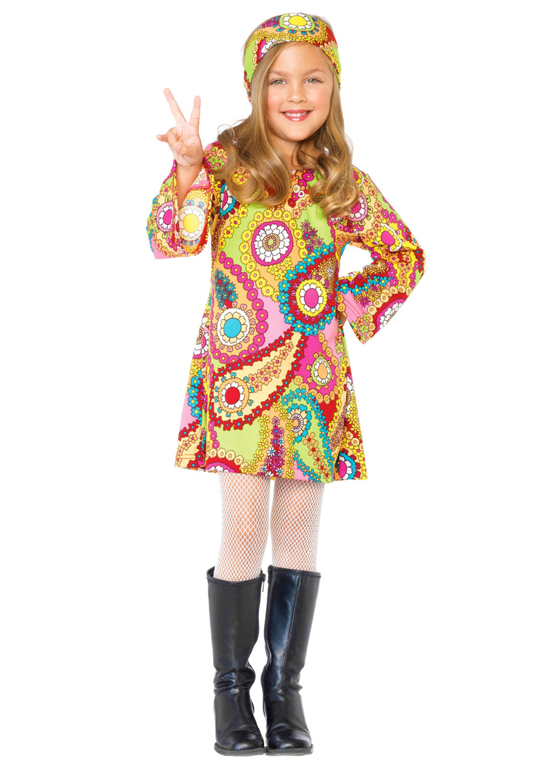 Child Hippie Chick Costume  sc 1 st  Halloween Costumes & Child Hippie Chick Costume - Halloween Costumes