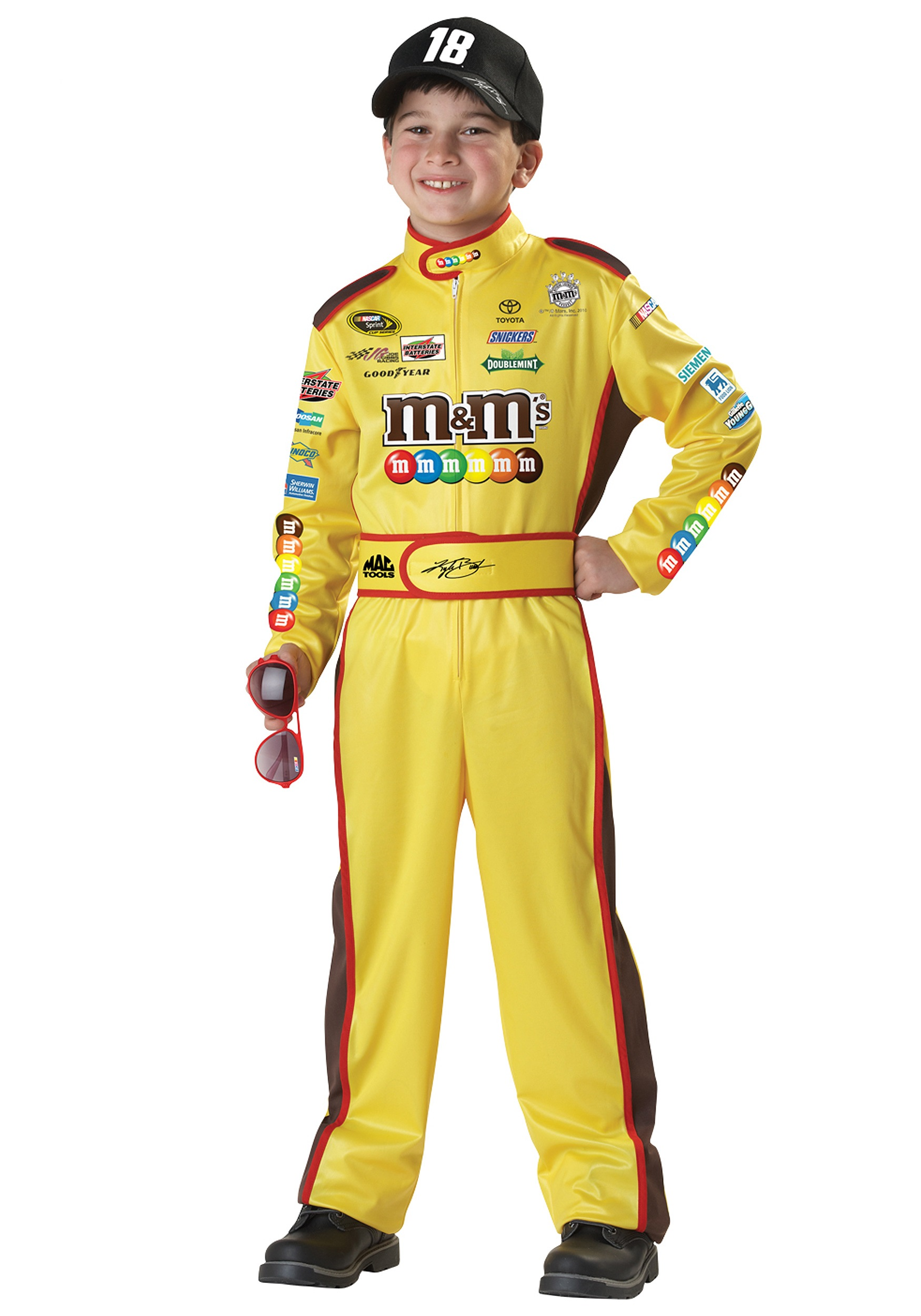 Halloween Outfits For Kids.Child Kyle Busch Costume
