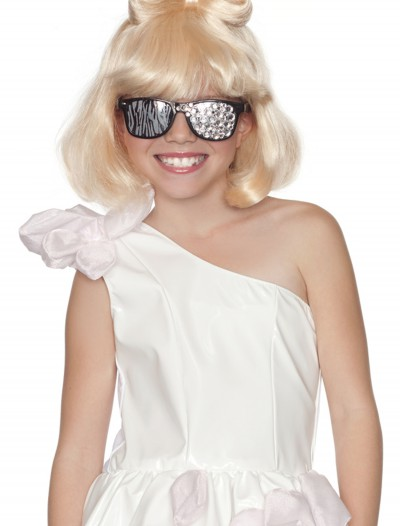 Child Lady G Bow Wig, halloween costume (Child Lady G Bow Wig)