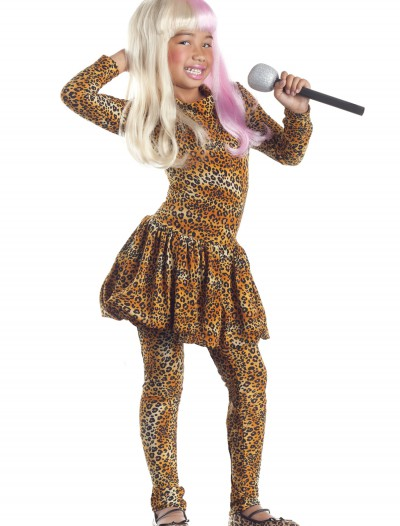 Child Leopard Rap Superstar Costume, halloween costume (Child Leopard Rap Superstar Costume)