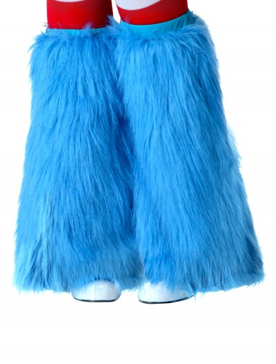 Child Light Blue Furry Boot Covers, halloween costume (Child Light Blue Furry Boot Covers)