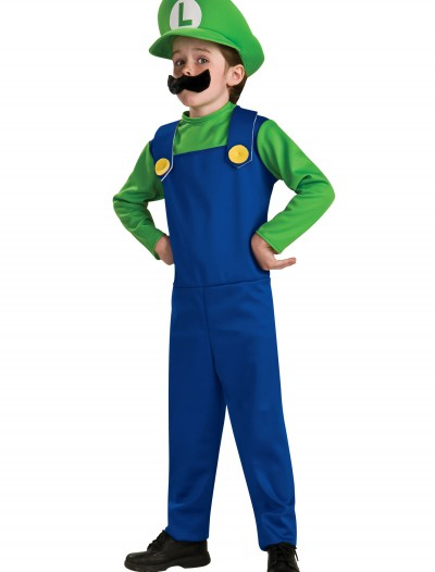 Child Luigi Costume, halloween costume (Child Luigi Costume)