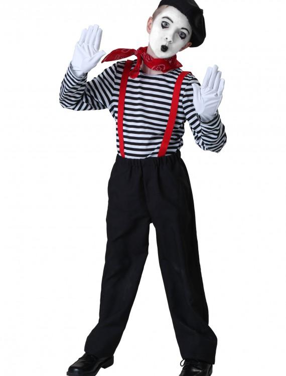 Child Mime Costume, halloween costume (Child Mime Costume)