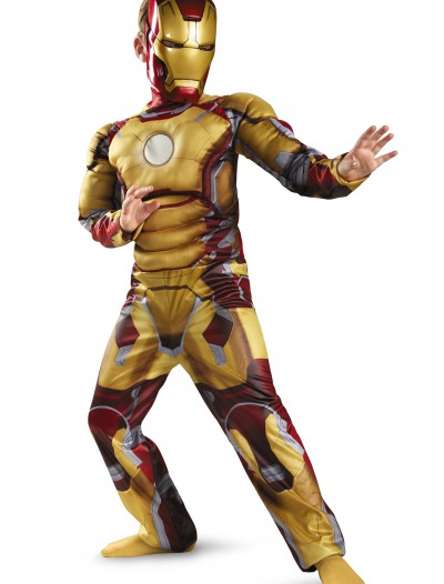 Child Muscle Iron Man Mark 42 Costume, halloween costume (Child Muscle Iron Man Mark 42 Costume)