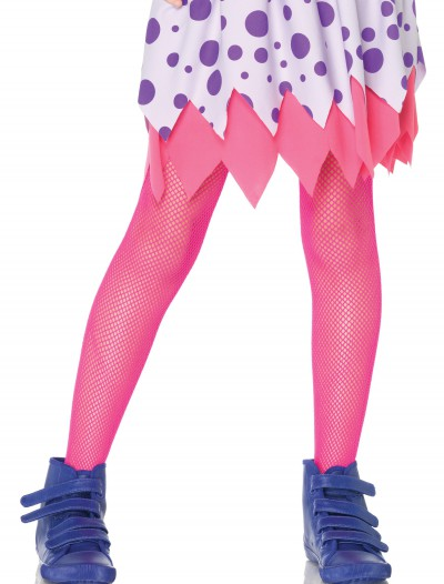 Child Neon Pink Fishnet Tights, halloween costume (Child Neon Pink Fishnet Tights)
