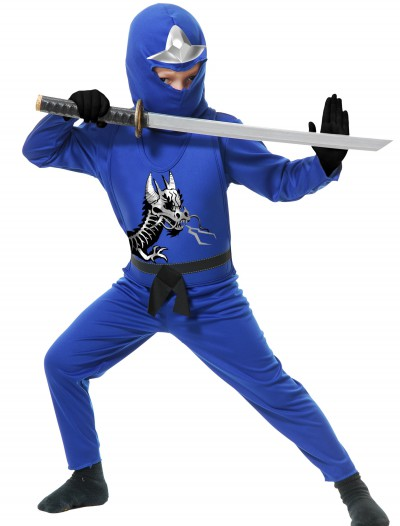 Child Ninja Avengers Series II Blue Costume, halloween costume (Child Ninja Avengers Series II Blue Costume)