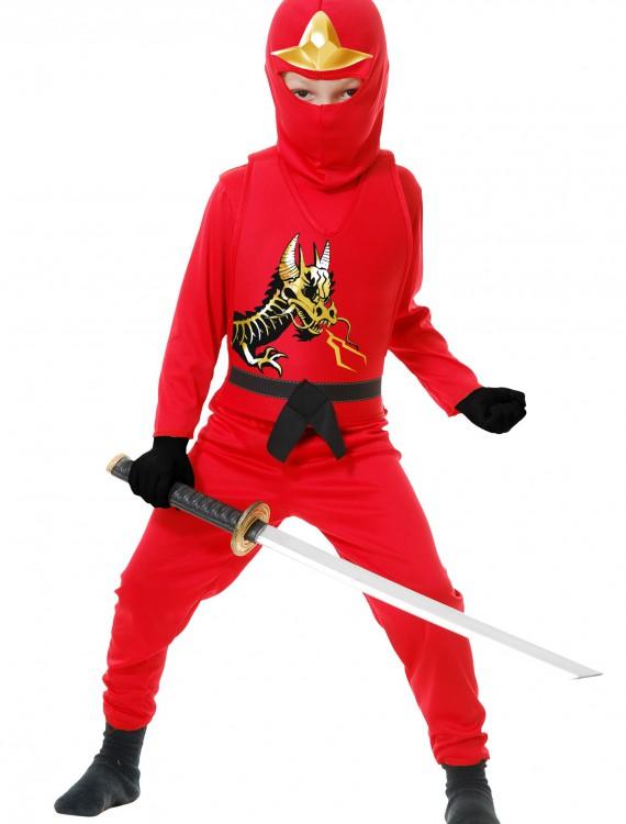 Child Ninja Avengers Series II Red Costume, halloween costume (Child Ninja Avengers Series II Red Costume)