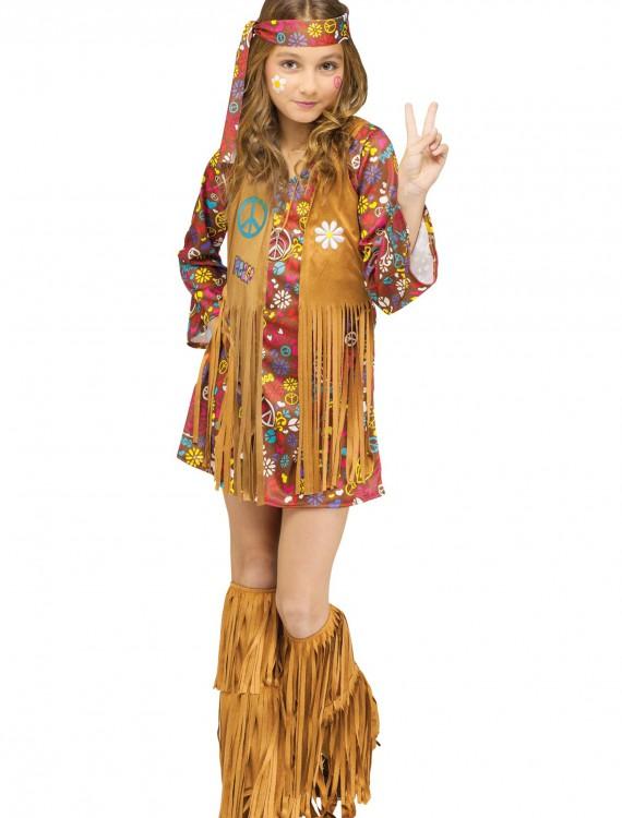 Child Peace & Love Hippie Costume, halloween costume (Child Peace & Love Hippie Costume)