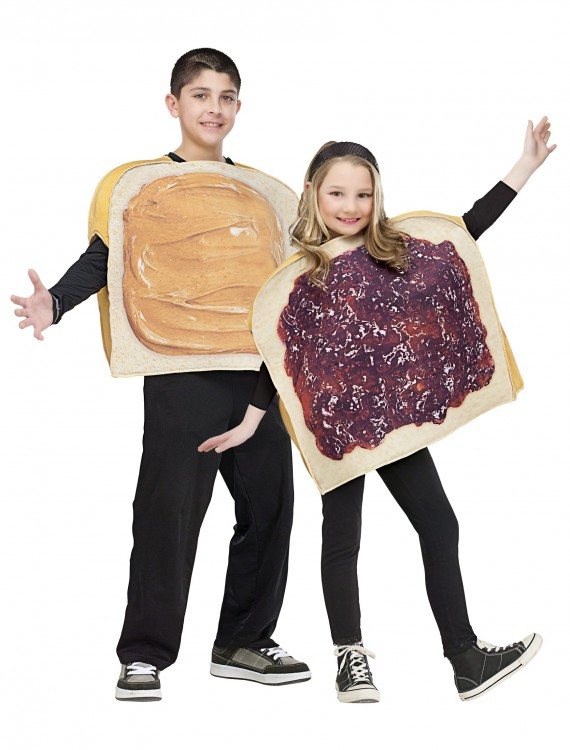 Child Peanut Butter and Jelly Costume, halloween costume (Child Peanut Butter and Jelly Costume)