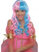 Child Pink and Blue Candy Fairy Wig, halloween costume (Child Pink and Blue Candy Fairy Wig)